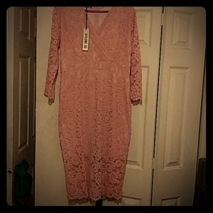 Pink lace dress by stylewe